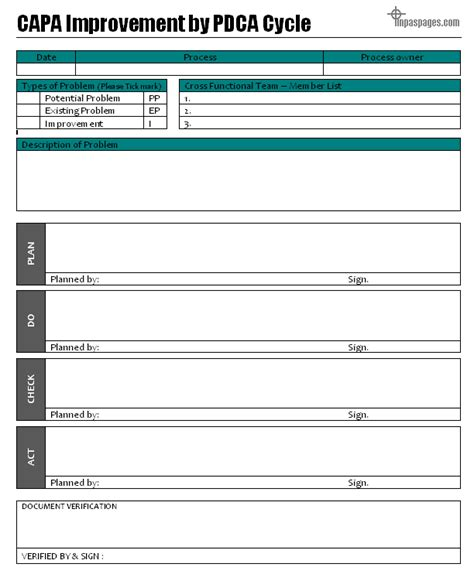 pdca template the gallery for gt pdca template