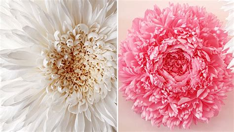 come fare fiori di carta crespa giganti artista crea giganteschi fiori di carta incredibilmente