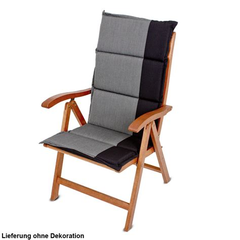 4er set hochlehner auflagen anthrazit schwarz garten stuhl
