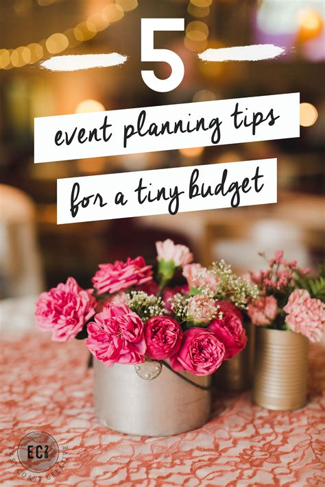tips  event planning   budget event planning