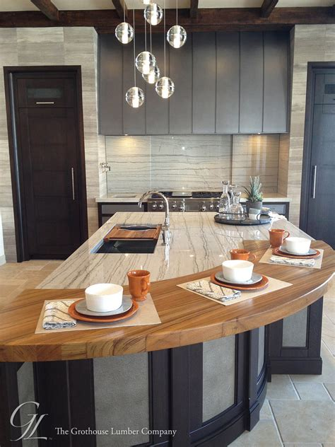 Colorado Countertops Denver custom teak wood countertop in denver colorado by grothouse