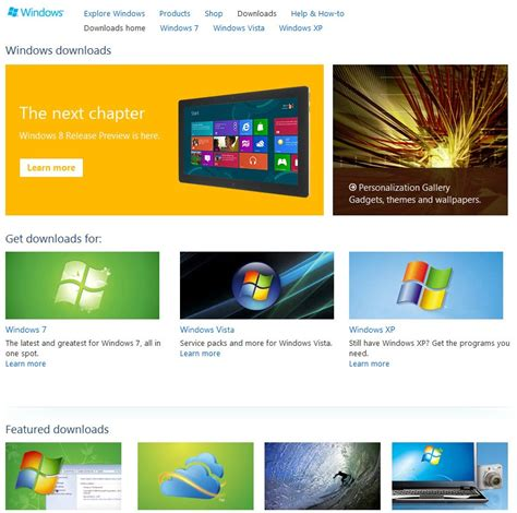design center download microsoft launches metro inspired website preview ghacks