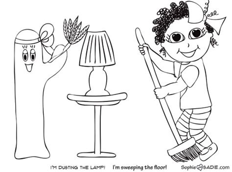 house chores coloring pages free coloring pages of flashcards house chores