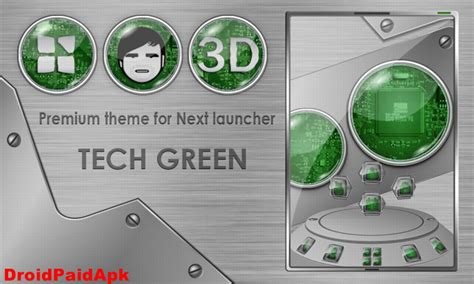next launcher themes apk paid applications and for android next launcher theme techgreen v3 0 apk