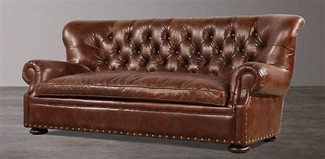 restoration hardware brown leather couch modular sofas for small spaces concepts sectional