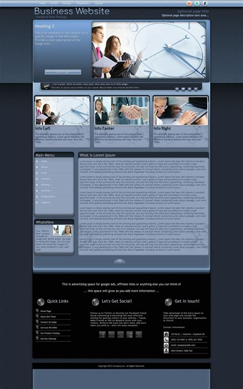 Dreamweaver Business Templates by Accolade Business Blue Business Dreamweaver Template