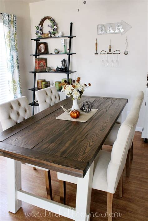 diy farmhouse style dining table domestically creative