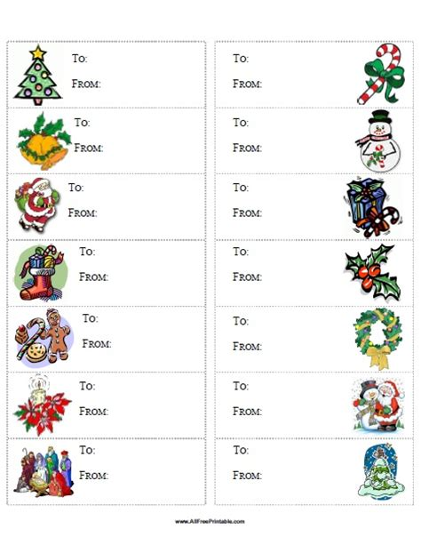 christmas gift labels templates word fun for christmas