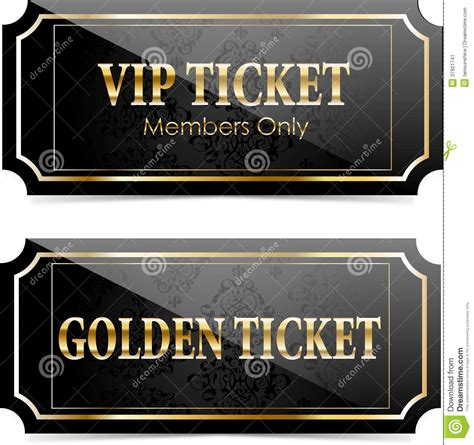 free vip ticket template on business card stock premium vip tickets stock image image 37801741