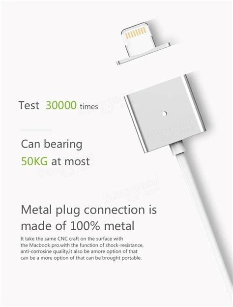 Sale Metal Magnetic Data Cable For Iphone 5 6 Termurah wsken metal single alloy single edition magnetic cable for