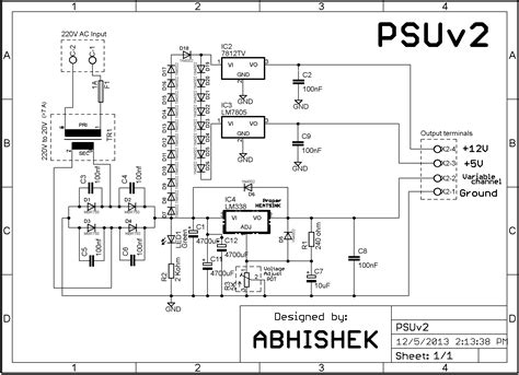 bench power supply circuit dc power supply circuit wiring diagram components