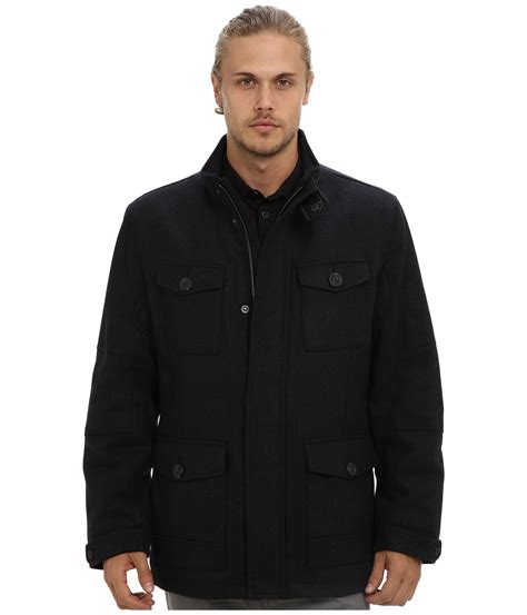 Marc Black marc new york by andrew marc travis coat in black for charcoal lyst