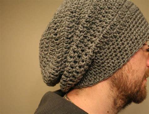 pattern crochet mens hat men s crochet slouchy beanie hat cap red black