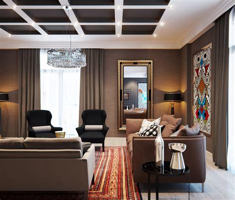 modern interior home design  combining  classic
