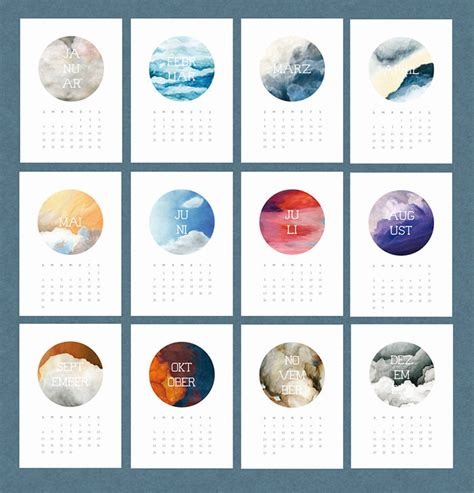 calendar design with photos 50 absolutely beautiful 2016 calendar designs hongkiat