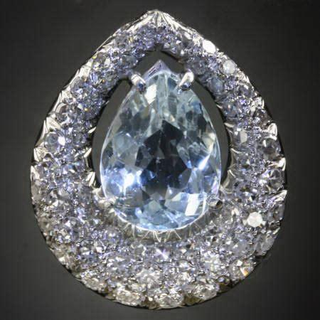 Aquamarine 1 50 Crt platinum aquamarine and pendant description by