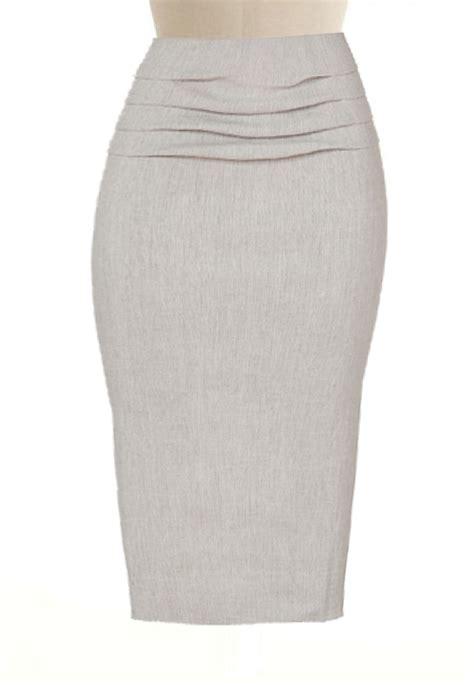 linen blend pencil skirt custom handmade fully lined