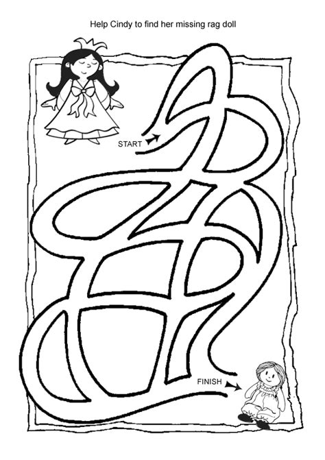 printable easy mazes for toddlers free online printable kids games doll maze