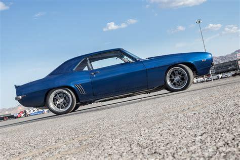 revolution  blue  camaro restomod drivingline