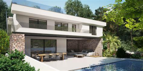 modernes haus kaufen mallorca villa mallorca kaufen moderner neubau mit dachterrasse