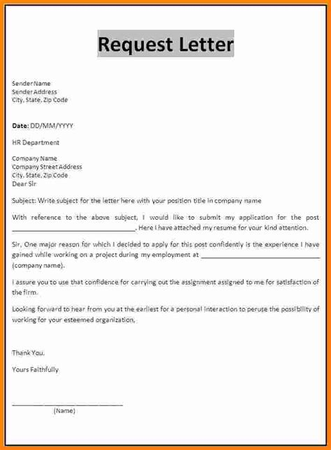 Request Letter Sle For Thesis Requesting Letter Format Ledger Paper