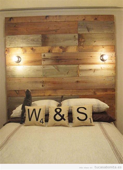 cabeceros de cama decorados tableros puertas  ventanas de madera tu casa bonita