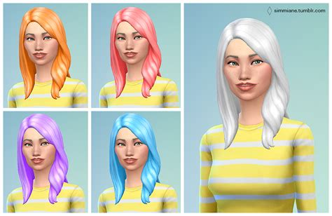 sims 3 cc hair colours sims 4 custom hair sims 4 non default hair recolors