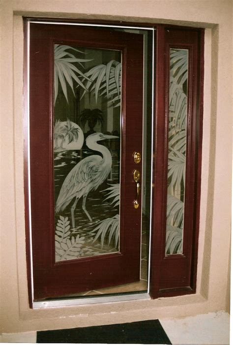 Door Glass Design Doors Etched Glass Etched Glass Design By Premier Etched Glass Studio Howard