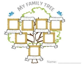 esl family tree template family tree by wise owl worksheets teachers pay teachers