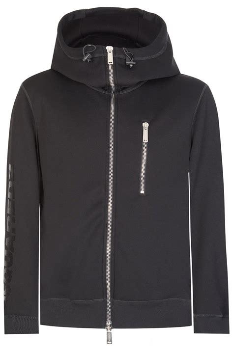Sleeve Zip Hoodie dsquared sleeve logo zip hoodie black