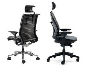 The steelcase think chair left and the steelcase leap chair right