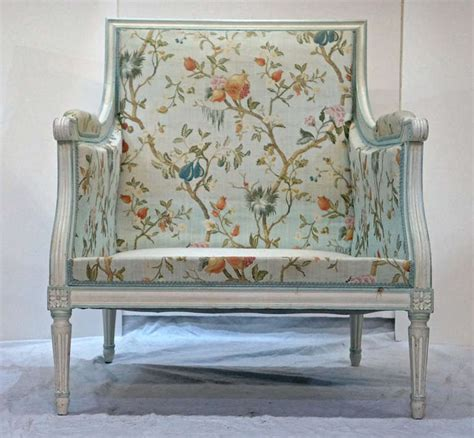 Floral Armchairs For Sale Pair Of Louis Xvi Floral Fauteuil Armchairs For Sale At