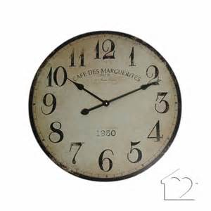 cream shabby chic caf 233 des marguerites wall clock sa0023 163 33 50 a fantastic range of cream