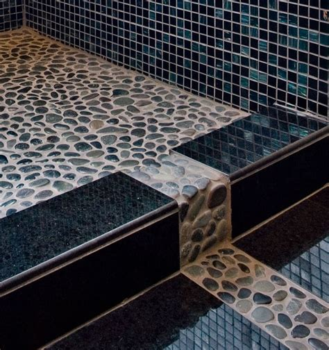 17 best ideas about river rock shower on