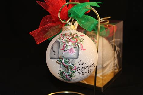 hand painted mailbox christmas ornament personalized free