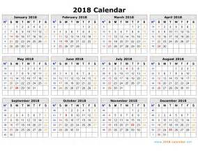 South Korea Kalender 2018 Weekly Calendar 2018 Calendar Printable Free