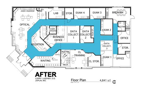 optometry office floor plans floor plan case study barbara wright design
