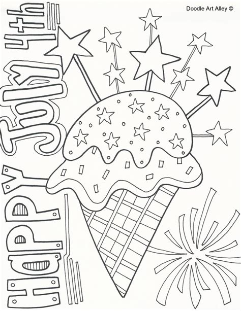 independence day coloring pages printable fourth of july free colouring pages