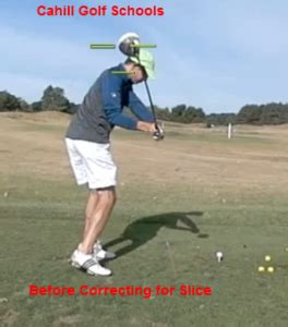 how to correct a slice in golf swing how to golf correcting slice video cahill golf instruction
