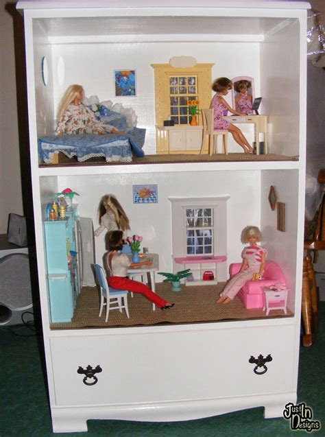 a doll house play dishfunctional designs old furniture upcycled into dollhouses play kitchens