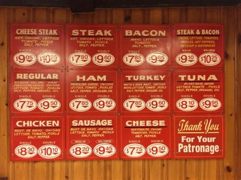classic menu picture of hoagie house kingston tripadvisor