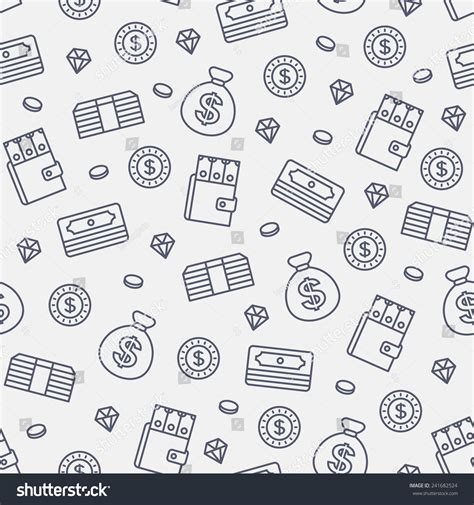 pattern money html seamless money pattern on white background stock vector