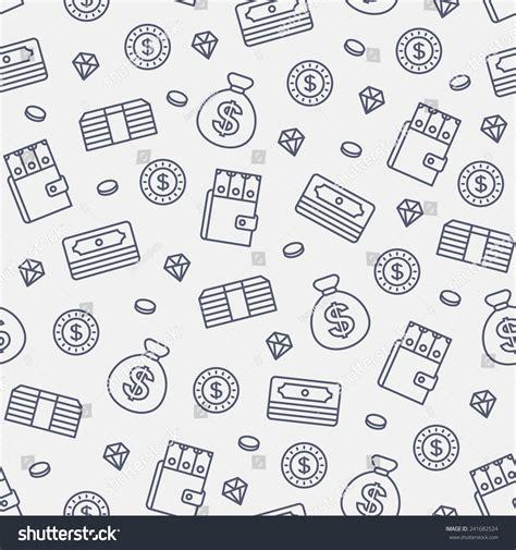 vector pattern money seamless money pattern on white background stock vector