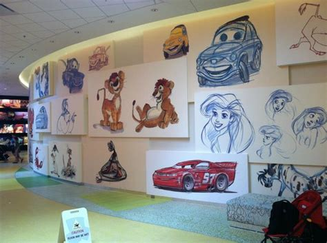 wall in the lobby of the quot of animation quot picture of walt disney world resort orlando