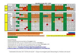 Calendario 2018 Escolar Calend 225 Escolar 2017 2018 Comregras