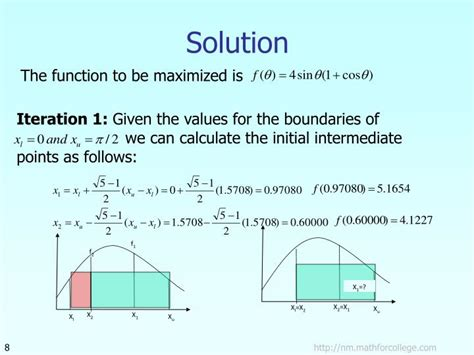 golden section method ppt golden section search method powerpoint presentation