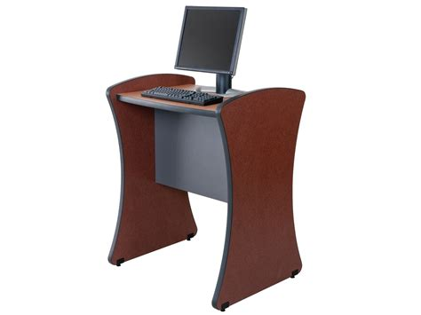 Desk Kiosk by Image Gallery Kiosk Desk