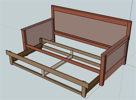 do it yourself bed frame pull out daybed do it yourself furniture