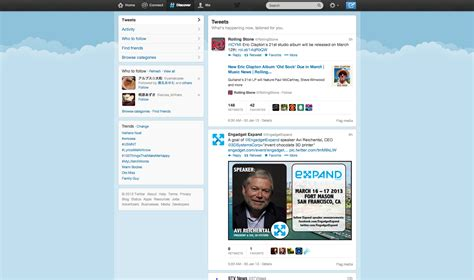 twitter layout checker layout small form big page user experience stack exchange