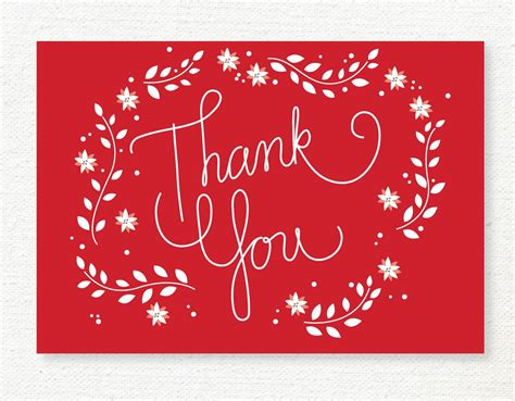 Merry Thank You Card Template by Thank You Cards Cards Tag And Tag Templates